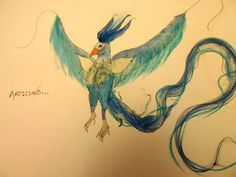 Articuno in watercolour and soft pastel. Drawn by me