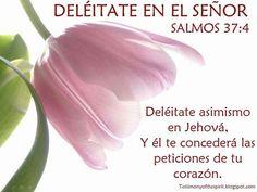 Salmo 37:4 Deléitate asimismo en Jehová, y él te concederá las peticiones de tu corazón.♔