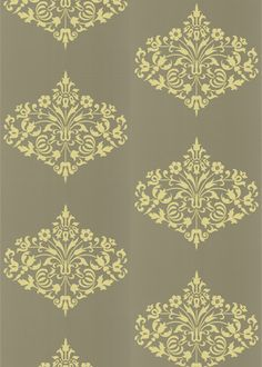 am looking for wallpaper with yellow in it to go with yellow pre-war tiles
