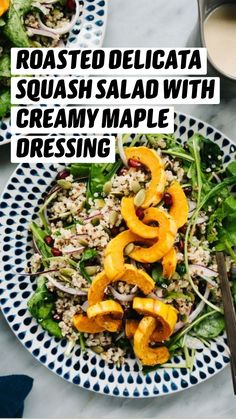 Vegetarian Thanksgiving, Thanksgiving Recipes, Vegetarian Appetizers, Vegetarian Recipes, Elimination Diet Recipes, Squash Salad, Winter Vegetables, How To Cook Quinoa, Vegetable Side Dishes