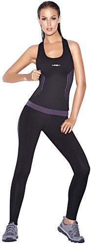Haby Womens Yoga Wear Running Tank Top Leggings Black S 61302303BL ** Check out this great product.