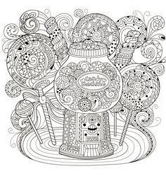 Adult Coloring Book Pages Cool Mandala For
