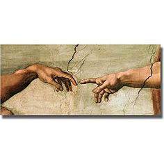Michelangelo 'Creation' from the Sistine Chapel ...I want a replica of this in my living room!!!