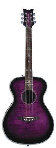 Daisy Rock Pixie Acoustic-Electric Guitar, Plum Purple Burst