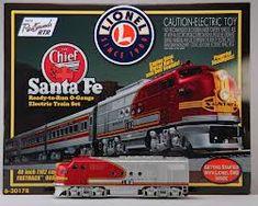 Lionel Santa Fe Super Chief train set...