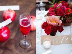 I am loving this wedding. love the pomegranates