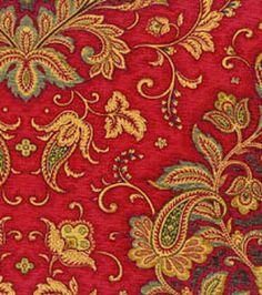 Home Decor Fabrics-Waverly Far And Away Garnet Fabric