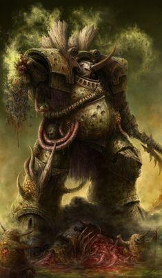 Warhammer 40k Figures, Warhammer Art, Warhammer 40k Miniatures, Warhammer Fantasy, Warhammer 40000, Fantasy Landscape, Fantasy Art, Chaos Daemons, Robot Concept Art