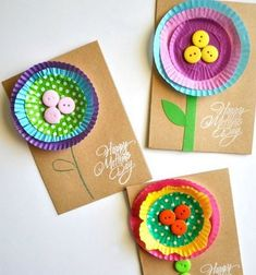 Mother's Day isn't far away, and here are some fabulous card ideas Dad can make with the kids.