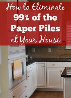 How to Eliminate of the Paper Piles at your House! Struggling with paper piles at your house? This post shares the keys to eliminate paper piles. It's not as hard as it may seem. Organizing Paperwork, Household Organization, Organizing Your Home, Life Organization, Organizing Tips, Decluttering Ideas, Organizing Paper Clutter, Casa Clean, Clean House