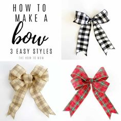 How to Make a Bow for a Wreath - Easy! Boxwood Wreath Diy, Diy Wreath, Wreath Bows, Make A Wreath Bow, Making Ribbon Bows, Wreath Making, Making Bows For Wreaths, Ribbon Wreaths, Tulle Wreath
