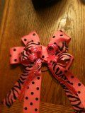 Big pink bows for your hair! They are super cute and are easy to make!