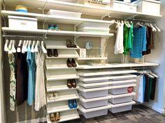 Amazing Elegant Interior Home Design Elfa Closet: Simply Organized With Elfa Closet  And Shoes Storage For