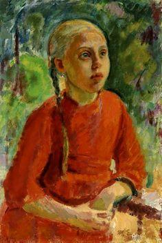 enckell, magnus - Lempi (from Kuorsalo) Finland Culture, Scandinavian Paintings, Helene Schjerfbeck, Amber Tree, Social Art, Art Station, New Artists, Traditional Art, Art Girl