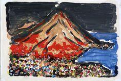 Vesuvio N.2. Painting  of Piero Petillo