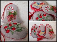 Cute heart things: Christmas embroidery: Stylish ideas from MIA (Russia)