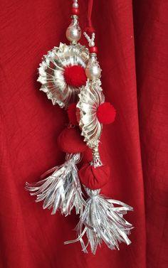 Shop now on www.labelkanupriya.com Saree Tassels Designs, Saree Kuchu Designs, Mehndi Designs, Blouse Designs, Gota Patti Jewellery, Raksha Bandhan Gifts, Handmade Rakhi, Rakhi Design, Designs For Dresses