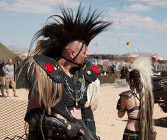 Horse tail mohawk headpiece headdress strap-on by KAROLBdotcom