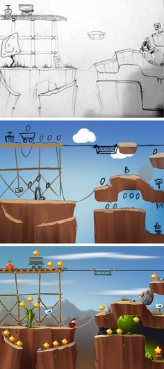 platformer game by Бойко Алексей, via Behance #gamedesign #mobile