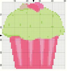 Two Jelly Beans Needlepoint Patterns for Easter: Jelly Bean Cupcake Needlepoint Chart