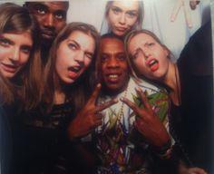 Kanye, Jay-Z, Models. YES.
