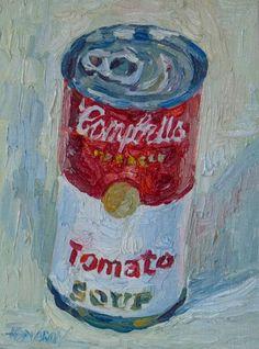 Campbells soup Painting  - Campbells soup Fine Art Print