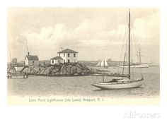 Lime Rock Lighthouse, which Archer can see as he waits for Ellen to turn around in ch. 21