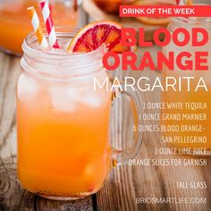 Summertime Equals Lots of Margaritas This Blood Orange Margarita gives the classic margarita a run for its money. With Blood Orange San Pellegrino and Grand Marnier,