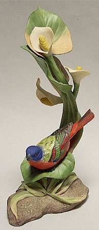 Boehm Birds: Painted Bunting