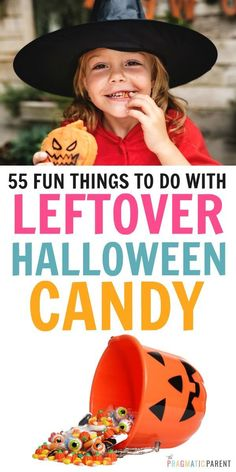Fun things to do with your leftover Halloween candy; from freezing and baking it into sweet treats, to turning it into crafts, games and science experiments.Parenting tips for using up your kids' halloween candy. Halloween Activities For Kids, Autumn Activities, Family Activities, Bonding Activities, Summer Activities, Kids And Parenting, Parenting Hacks, Single Parenting, Diy For Kids