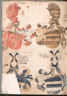 Wernigeroder (Schaffhausensches) Wappenbuch Süddeutschland, 4. Viertel 15. Jh. Cod.icon. 308 n  Folio 156v