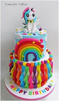 My Little Pony Birthday Cake | Rainbow Cake | Personalized
