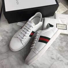 Today we are going to make a small chat about 2019 Gucci fashion show which was in Milan. When I watched the Gucci fashion show, some colors and clothings. Gucci Sneakers, White Sneakers, Sneakers Fashion, Fashion Shoes, Work Sneakers, Sneakers Sale, Leather Sneakers, Sneakers Design, Popular Sneakers