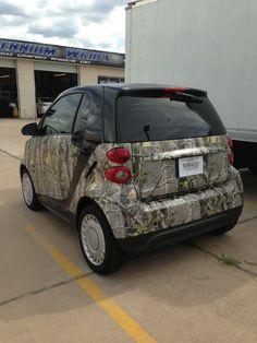Camo Smart Car Future Trucks, Camo Stuff, Smart Fortwo, Smart Car, Street Smart, Pink Camo, Car Wrap, Big Love, Kustom