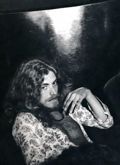 Robert Plant at a press conference in Milan, 1971.