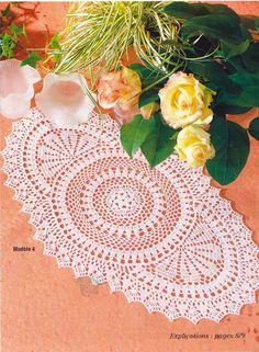 Vintage Crochet Lotus Flower Oriental Doily Pattern x