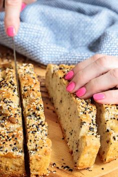 Loaded with healthy seeds and a generous scoop of whole wheat flour, this Ridiculously Easy Seeded Focaccia Bread is also ridiculously delicious! No Yeast Bread, Bread Baking, Bread Recipes, Cooking Recipes, Recipes For Soup, Cocinas Kitchen, Artisan Bread, Bread Rolls, Galette