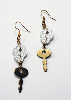 Key to Her Heart Earrings    by Dorene Eggleston #love #key #earrings