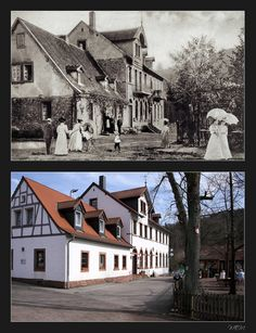 """Bremerhof"", Naherholungsziel vor den Toren Kaiserslauterns, einst und heute Kaiserslautern, Memories Faded, World War Two, Small Towns, Germany, Europe, Mansions, House Styles, Big"