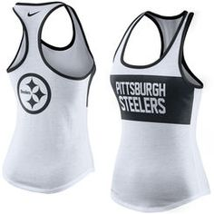 Pittsburgh Steelers Nike Women s Performance Tank Top - White Packers  Football 1e404c3ef