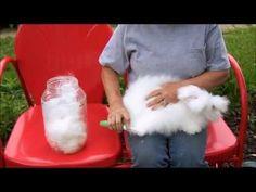 ▶ English Angora Wool Dying it, Spinning it, Crocheting it - YouTube