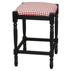 I pinned this Hawthorne Stool in Red from the Perfect Plaids event at Joss and Main!