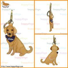 Golden Retriever Genuine Leather Bag Charm http://www.happy4legs.com/#!golden-retriever-bag-charm-1/qn66o