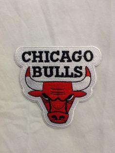 Chicago Bulls Logo NBA Basketball Hat Shirt Embroidered Iron On Jersey Patch #ChicagoBulls