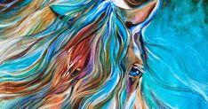 Caballos de Marcia Baldwin     PINTURAS FIGURATIVAS MODERNAS CON CABALLOS BLANCOS   Cuadros de Caballos   Pinturas Modernas al Óleo de Cor...