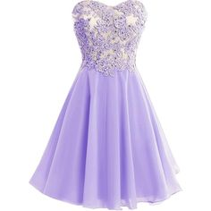 Icy Sun Crystals Applique Prom Gowns Chiffon Strapless Cocktail... ($69) ❤ liked on Polyvore featuring dresses, purple bridesmaid dresses, party dresses, purple party dresses, purple chiffon dress and short prom dresses