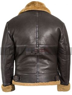 Borg Collar Multi Taschen Faux Lederjacke BROWN DEEP BROWN