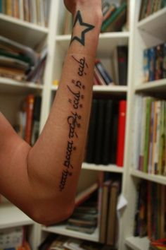 not all those who wander are lost. yes, to an elvish tattoo. :) LOTR dork...