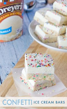Dreyer's Confetti Ice Cream Bars Recipe