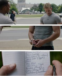 Steve Rogers is slowly figuring out the modern world. Check out his notebook from Captain America: WS.